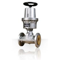 pneumatic pinch valve with emergency handwheel (normally closed)  SIRSI METALLISATOR S.P.A.