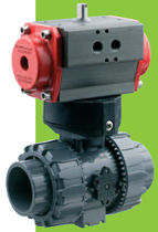 pneumatically actuated ball valve DN 10 - 50, max. 16 bar | VKD/CP series FIP - Formatura Iniezione Polimeri