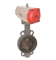 pneumatically actuated butterfly valve DN 40 - 500, PN 16 | TA-ED series END-Armaturen GmbH & Co. KG