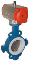 pneumatically actuated butterfly valve DN 50 | TA series END-Armaturen GmbH &amp; Co. KG
