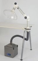 portable solder fume extractor with extraction arm Model Range 'L' Bigneat Containment Technology