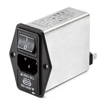 power entry module (PEM) with EMI filter, built in switch and fuse 1 -10 A | FN 390   SCHAFFNER EMC