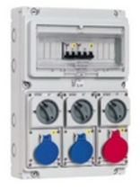 pre-assembled electric distribution box 16 A, 220 - 380 V, IP44 | topTER series Palazzoli SpA