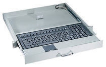rack-drawer industrial keyboard with touchpad AX7042 AXIOMTEK