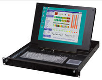 "rack-drawer KVM switch with LCD screen and keyboard 15"", 1 024 x 768 px, 8 port 