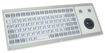 rack-mount industrial keyboard with trackball 0.6 mm, 3 N, IP65 | KF08247 INDUKEY