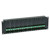 rack mounted fiber optic distribution panel NZPFxRU series Neutrik AG