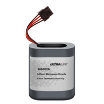 rechargeable lithium-manganese dioxide battery 6.6 V, 6.1 Ahr | UB0029  Ultralife
