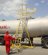 rolling ladder or mobile stepladder  TRIAX