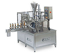 rotary filler for liquids and sealer for pre-formed tray 35 - 40 p/min | PDP-4 PackLine