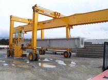 rubber tired gantry crane with spreader beam MST 130 - 9 CIMOLAI TECHNOLOGY SpA