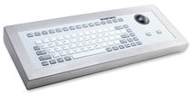 rugged silicone industrial keyboard with trackball 1.2 mm, 1.2 N, IP65 | KG14031 INDUKEY