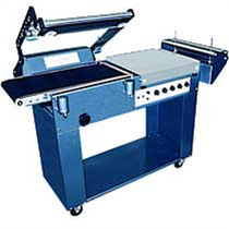 semi automatic L-sealer with shrink tunnel 15 p/min sharppack machines