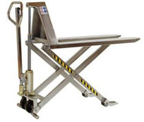 semi stainless steel high lift hand pallet truck max. 1 000 kg | HMXSS H.E.S