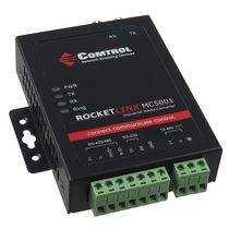 serial - fiber optic converter RS-232/422/485 | RocketLinx MC5001 Comtrol Corporation