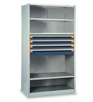 "shelving with modular drawers 42"" x 18"" x 75"", 650 lb 