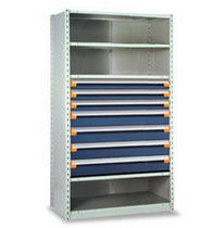 "shelving with modular drawers 42"" x 24"" x 75"", 650 lb 