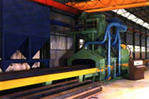 shot blasting machine with roller conveyor for plates and sheet metal  Blasting SA