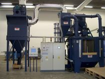 shot blasting machine with rotary table and satellites TR OMSG - OFFICINE MECCANICHE SAN GIORGIO SpA