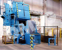 shot blasting machine with rubber belt conveyor Tappeto Rampante ® OMSG - OFFICINE MECCANICHE SAN GIORGIO SpA