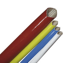 silicone coated braided fiber glass sleeving - 60 - 250°C | SCS FAVIER TPL