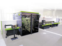 simultaneous machining and cutting production line for PVC profile 6500 x 120 x 180 mm | PVCFLEX 801 series DUBUS Group