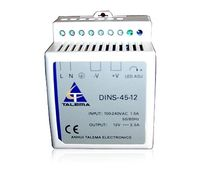 single-phase AC/DC power supply : DIN rail mounted converter 45 W | DINS-45 Anhui Talema electronics