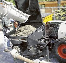 skid steer concrete pump  BOBCAT
