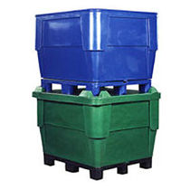stackable polyethylene container max. 907 kg | 1140 series Bonar Plastics
