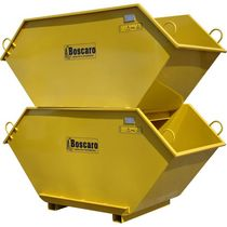 stackable steel storage bin max. 1 000 kg, 2 500 x 1 100 mm | CR series Boscaro s.r.l.