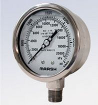 stainless steel Bourdon tube pressure gauge NACE MR0175 Marsh Bellofram