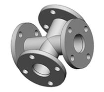 "stainless steel cross flanged coupling 2 - 10"" Nor-Cal Products"
