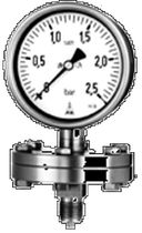 stainless steel diaphragm differential pressure gauge PSCh / PSChG / PSK / PSKG Armaturenbau