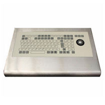 stainless steel industrial keyboard with trackball IP67, NEMA4X | SKBE-TB Armagard