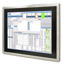 "stainless steel industrial panel PC 15"" Stainless display full IP65, P-Cap or Resistive touch Winmate Communication Inc."