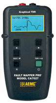 TDR cable tester 9 - 19 000 ft (3 - 6 000 m) | CA7027   AEMC Instruments