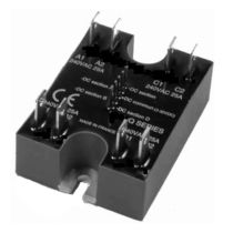 three-phase solid state relay 12 - 240 VAC, 4 x 25 A | SCQ celduc relais