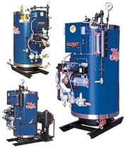 tubeless boiler 6 - 100 hp, 30 psi | 4VT Cyclone Hot Water Hurst Boiler