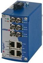 unmanaged industrial Ethernet to fiber optic converter switch   eks Engel GmbH & Co. KG