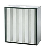 V bank HEPA filter  US Air Filtration, INC