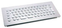 vandal proof stainless steel industrial keyboard 1.5 mm, 1 N, IP65 | KV03004 InduSteel2 INDUKEY