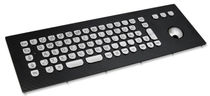 vandal proof stainless steel industrial keyboard with trackball 1.5 mm, 1 N, IP65 | KV16224 InduDur INDUKEY