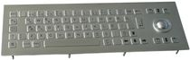 vandal proof stainless steel industrial keyboard with trackball 0.45 mm, 2.0 N, IP65 | K-TEK-B340TB Key Technology (China) Limited