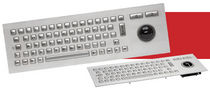 vandal proof stainless steel industrial keyboard with trackball J86-4400 series CHERRY