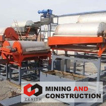wet magnetic drum separator ZTLDST3G-10  Shanghai Zenith Mining and Construction Machinery
