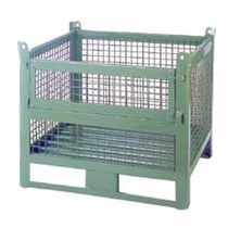 wire mesh container with lifting eyes and door  SABE