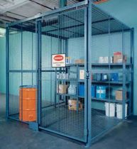 wire mesh partition for tool storage  WIRECRAFTERS