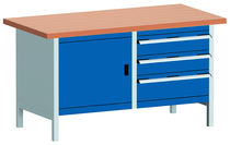 workbench with 3 drawers  BITO-Lagertechnik Bittmann
