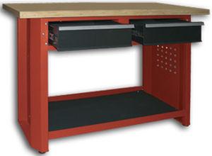 Wooden Workbench / 2 Drawer