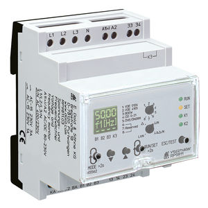 voltage monitoring relay frequency three phase din rail